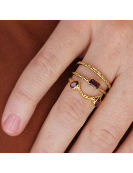 Estrella Band | 18 K Gold Vermeil Stacking Ring by Etsy