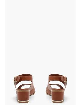 Harriet Peeptoe Block Heel Sandals by Boohoo