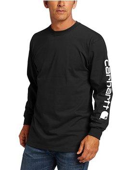 Carhartt Men's Signature Sleeve Logo Long Sleeve T Shirt K231 by Amazon