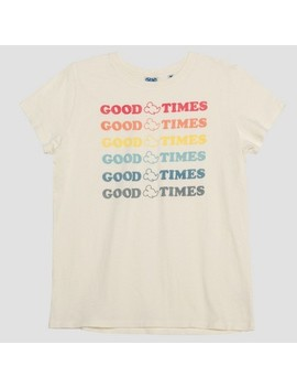 Junk Food Women's Mickey Mouse Good Times Short Sleeve T Shirt   White by Junk Food