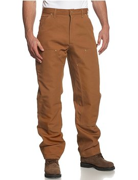 Carhartt Mens Double Front Duck Utility Work Dungaree Pant B01 by Amazon
