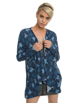 Disney Lilo &Amp; Stitch Draped Open Cardigan by Hot Topic