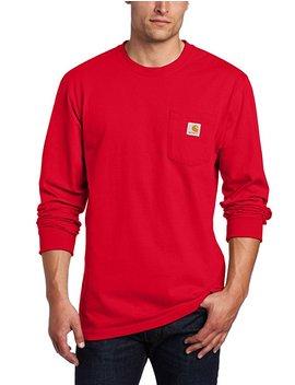 Carhartt Men's Workwear Midweight Jersey Pocket Long Sleeve T Shirt K126 by Amazon
