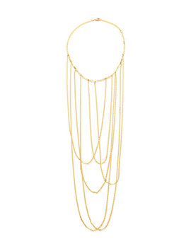 14k Big Stiletto Choker Chain Necklace by Lana