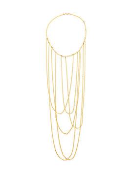 14k Big Stiletto Choker Chain Necklace by Lana