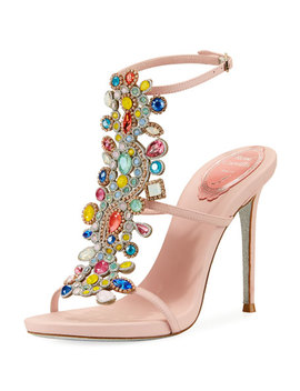 Multi Embellished 105mm Sandal by Rene Caovilla