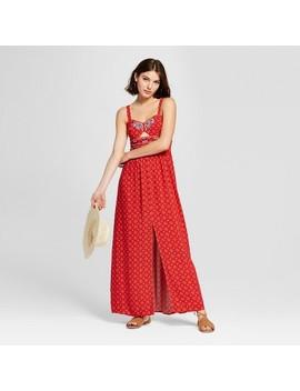 Women's Embroidered Maxi Dress   Xhilaration™ Red by Xhilaration™
