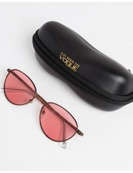 Vogue Eyewear Round Sunglasses By Gigi Hadid In Pink by Vogue