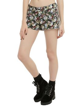 Disney Lilo &Amp; Stitch Floral Shorts by Hot Topic