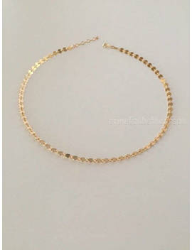 14k Gold Filled Disc Choker, Gold Tattoo Choker, Made In Usa, Boho Choker, Rose Gold Coin Choker, Rose Gold Filled, by Etsy