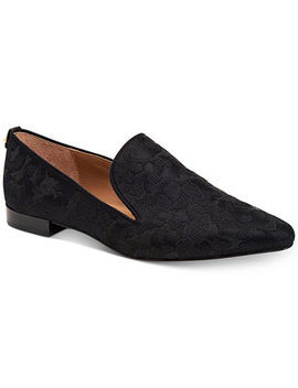 Women's Elin Brocade Smoking Flats by Calvin Klein