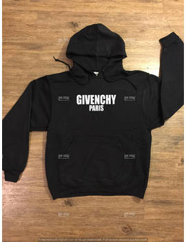 Givenchy Paris Hoodie Unisex Black Hoodie Pullover by Etsy