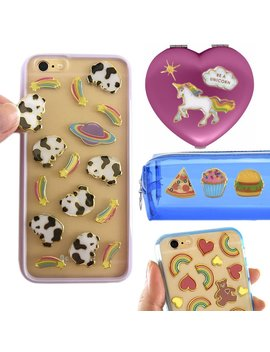 Mrs Grossman's 101ct Puffies Cute Metallic Decal Stickers For Kids Teens Phones Scrapbooking by Dg Home Goods