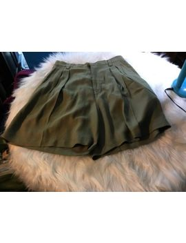 Womens Tommy Bahama Silk Shorts High Waist Pleated Front Green Size 4 G13 by Tommy Bahama
