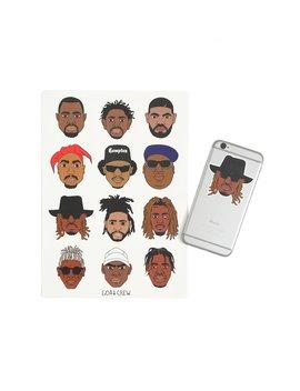 Goat Crew Mini Rapper Head Sticker Pack by Goat Crew