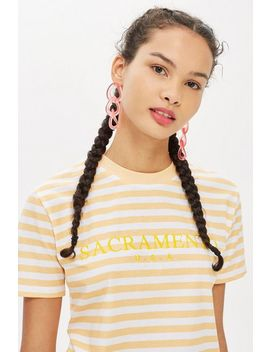 Sacremento Stripe T Shirt By Tee & Cake by Topshop
