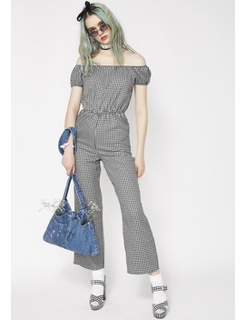 Spoil Me Gingham Jumpsuit by Emory Park