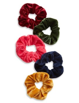 5 Pack Velvet Scrunchies by Tasha