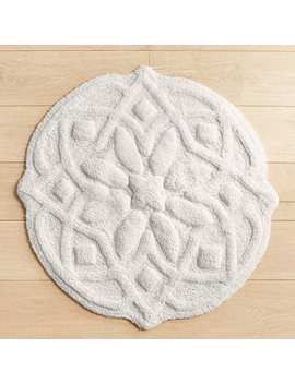 White Medallion Round Bath Rug by Pier1 Imports