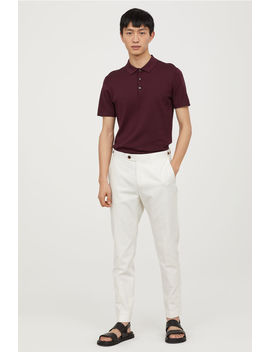 Slim Fit Linen Blend Chinos by H&M