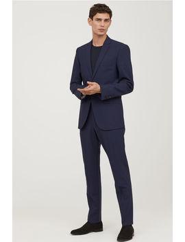 Wool Suit Pants Regular Fit by H&M