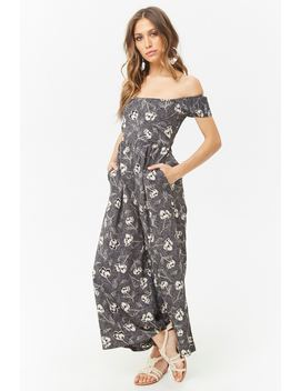 An M Off The Shoulder Jumpsuit by Forever 21