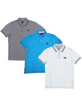 Tommy Hilfiger Mens Polo Shirt Slim Fit Mesh Knit Short Sleeve Big Flag Logo New by Tommy Hilfiger
