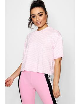 Kyra Woman Diagonal Crop T Shirt by Boohoo