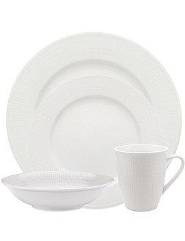 Rörstrand Swedish Grace Dinnerware Collection In Snow by Bed Bath And Beyond