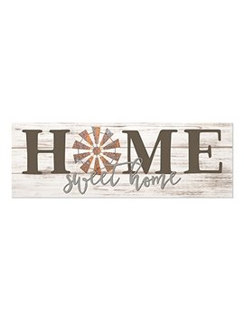 Home Sweet Home Windmill White Rustic Wood Wall Sign 6x18 by Mrc Wood Products