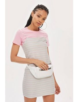 Striped Glitter Bodycon Dress by Topshop