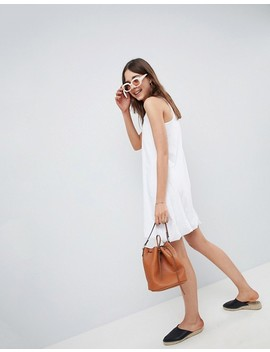 Asos Design Mini Vest Dress With Gathered Hem by Asos Collection