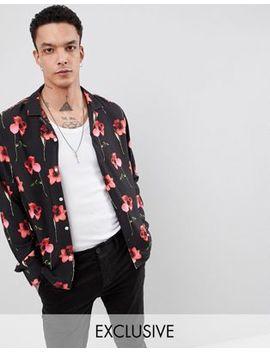 Heart & Dagger Revere Shirt In Long Sleeve With Poppy Print by Heart & Dagger