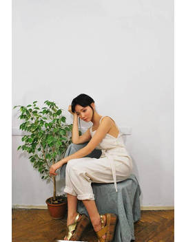 Linen Overall, Jumpsuit, Romper, Pants, Suspenders, Bretel Rok, Pinafore by Etsy