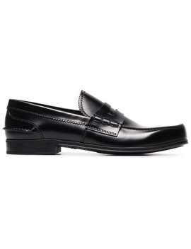 Classic Leather Loafers by Prada