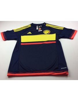 $90 Adidas Mens Size Small International Colombia Soccer Jersey Dark Blue Nwt by Adidas