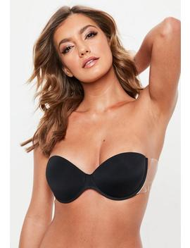 Black Winged Super Push Up Stick On Bra by Missguided