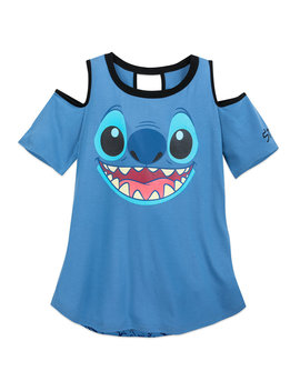 Stitch Cold Shoulder Fashion T Shirt For Women by Disney