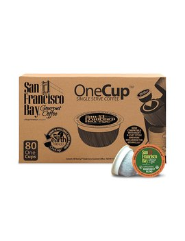 San Francisco Bay One Cup, Organic Rainforest Blend, 80 Count  Single Serve Coffee, Compatible With Keurig K Cup Brewers by San Francisco Bay Coffee