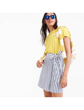 Textured Wrap Mini Skirt In Stripe by J.Crew
