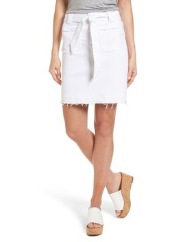 Belted Release Hem Stretch Cotton Twill Skirt by Caslon®