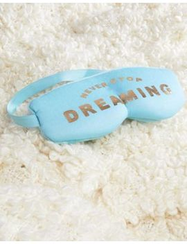 Typo Never Stop Dreaming Eye Mask And Ear Plugs Travel Set by Typo