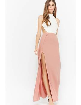 Contrast Halter Prom Dress by Forever 21