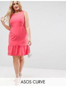 Asos Curve Midi Pencil Dress With Frill Hem by Asos Curve