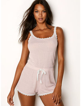 Lace Trim Romper by Victoria's Secret
