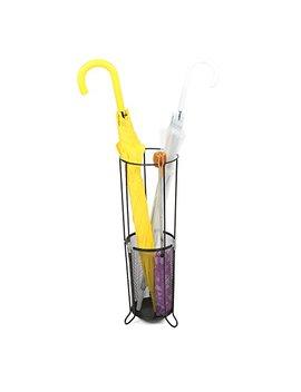 Mind Reader Umbrella Rack Stand For Canes Walking Sticks Umbrellas, Metal Mesh, Black by Mind Reader
