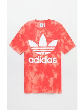 Tie Dyed Trefoil Boxy Red T Shirt by Adidas