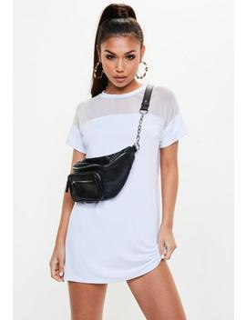 White Mesh T Shirt Dress by Missguided
