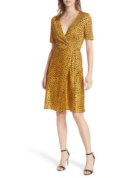 Marigold Silk Wrap Dress by Dvf