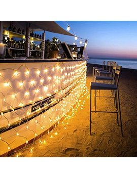 Ollny Led Fairy String Decorative Lights 200 Le Ds Net Mesh Tree Wrap Lights 8 Modes Low Voltage For Christmas Wedding Garden Decorations Home Garden Warm White by Ollny